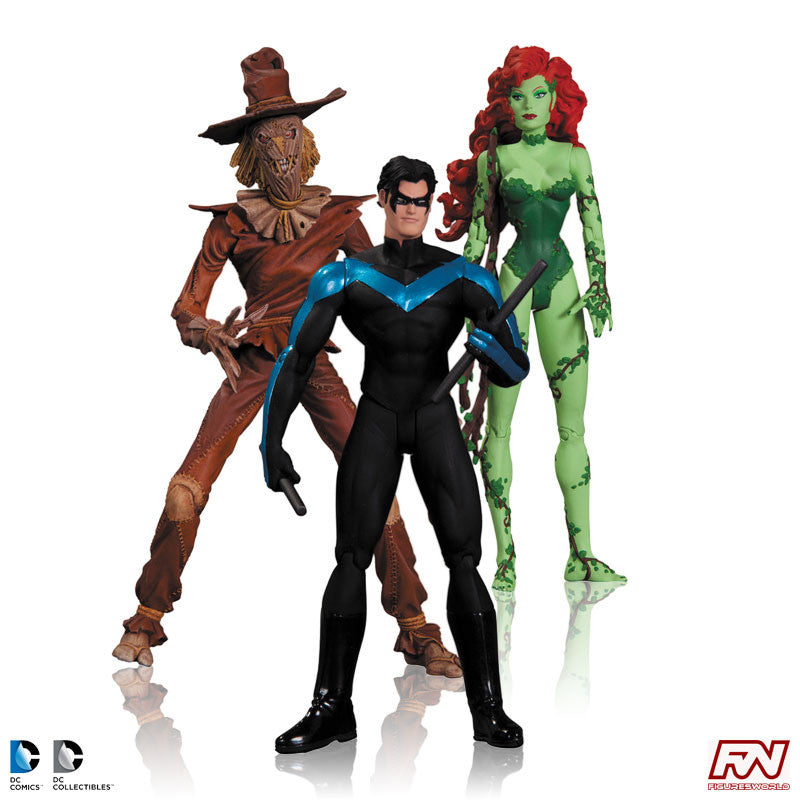 HUSH: Poison Ivy, Nightwing & Scarecrow Action Figure 3-Pack