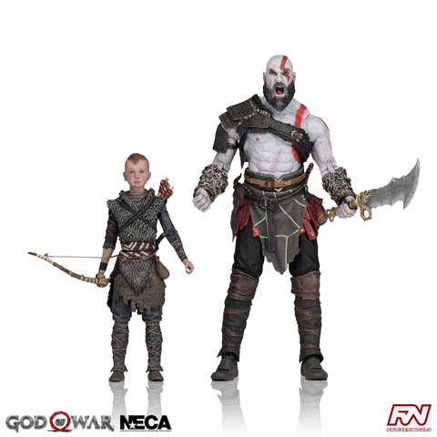 GOD OF WAR (2018): Ultimate Kratos & Atreus 7-Inch Scale Action Figure 2-Pack