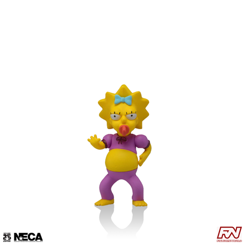 THE SIMPSONS 25th ANNIVERSARY: Maggie Simpson (Pink Jumpsuit) Collectible Action Figure