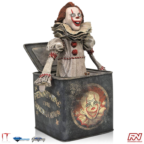 IT CHAPTER TWO GALLERY: Pennywise In The Box PVC Diorama