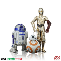 STAR WARS: C-3PO & R2-D2 with BB-8 ArtFX+ Statue Three Pack