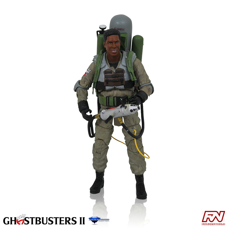 GHOSTBUSTERS 2 Movie Select: Slime Blower Winston Zeddemore Action Figure