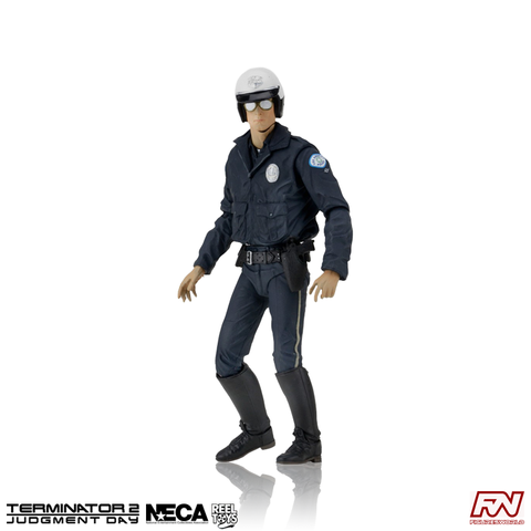 TERMINATOR 2: T-1000 (Motorcycle Cop) Ultimate 7-Inch Scale Action Figure