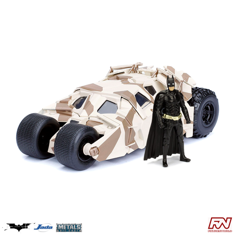 THE DARK KNIGHT: Tumbler Batmobile Camo Version with Batman 1:24 Die Cast Vehicle & Figure