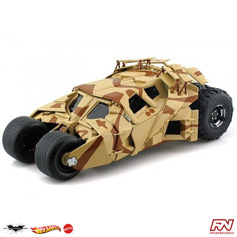 THE DARK KNIGHT RISES: Tumbler Camouflage 1:18 Scale Die-Cast Hot Wheels Heritage Collection