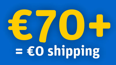 Free shipping on above €70