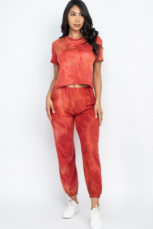 Fire burning 2-Piece Jogger set