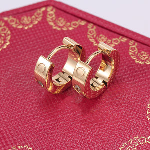 Amore Gold Cuff Earrings