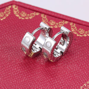 Amore Platinum Cuff Earrings