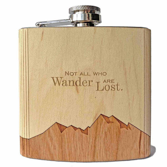 Not All Who Wander Flask - American Made Retail Company