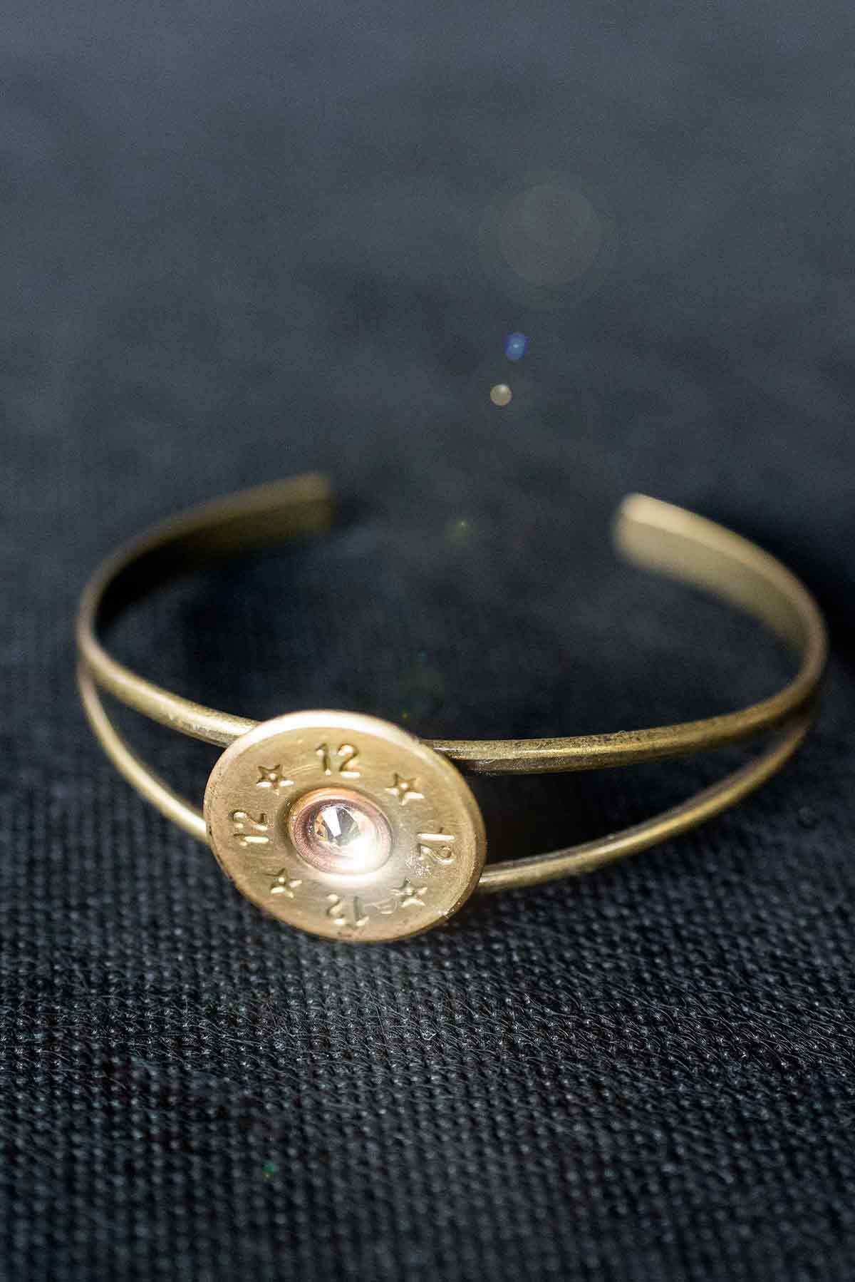 .12-Gauge Shotgun Open Bangle Bracelet