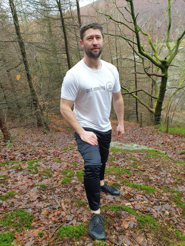 men's feral training t-shirt: get moving