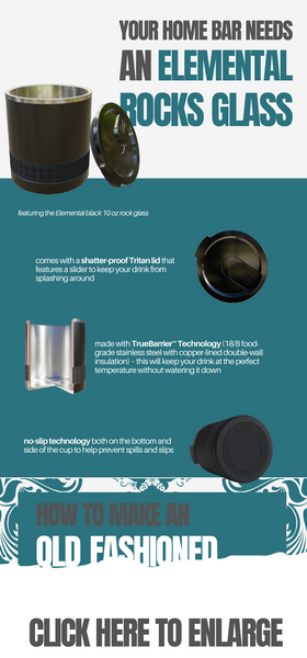 Elemental Rocks Glass and Old Fashioned Recipe infographic