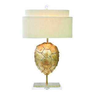Couture Lamps Tortoise Table Lamp - Silver