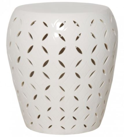 Lattice Stool/Table - White