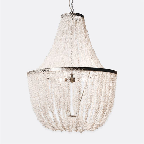 Silvana Chandelier, White Shell