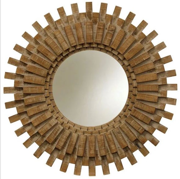 Natural Picket Transitional Wall Mirror