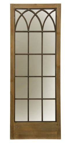 Window Panel Farmhouse Traditional Wall Mirror