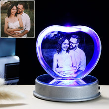 Load image into Gallery viewer, Customized K9 Crystal Photo Frame LED Base