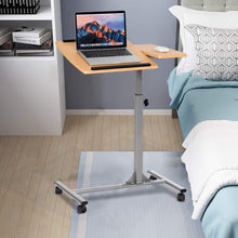 Load image into Gallery viewer, Mobile Laptop Desk Cart on Wheels with Wood Top