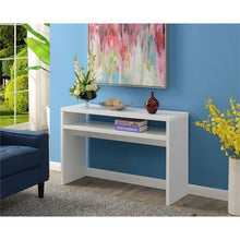 Load image into Gallery viewer, Modern FarmHome White Sofa Table Console Table with Bottom Shelf