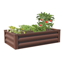 Load image into Gallery viewer, Brown Powder Coated Metal Raised Garden Bed Planter Made In USA