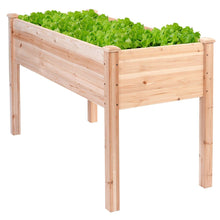 Load image into Gallery viewer, Solid Wood Cedar 30-inch High Raised Garden Bed Planter Box
