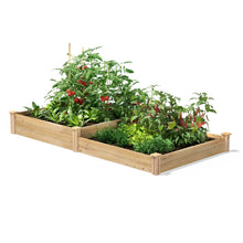 Load image into Gallery viewer, 4 ft x 8 ft Cedar Wood 2 Tier Raised Garden Bed - Made in USA