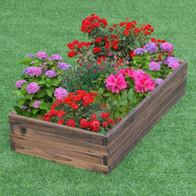 Load image into Gallery viewer, Solid Wood 4 ft x 2 ft Raised Garden Bed Planter 9 inch High