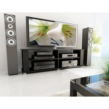 Load image into Gallery viewer, Modern Black TV Stand - Fits up to 68-inch TV