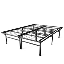 Load image into Gallery viewer, Full size 18-inch High Rise Folding Metal Platform Bed Frame