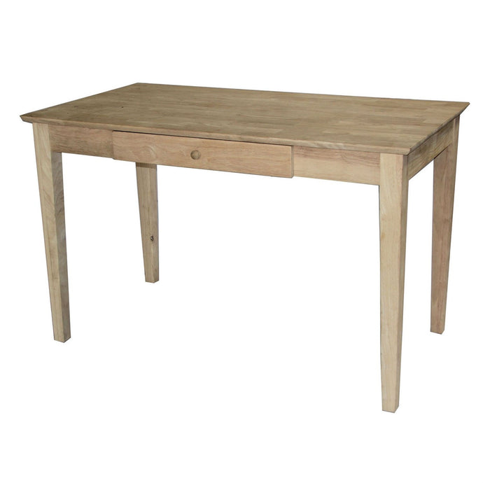 Unfinished Solid Wood Desk Laptop Computer Writing Table with Drawer