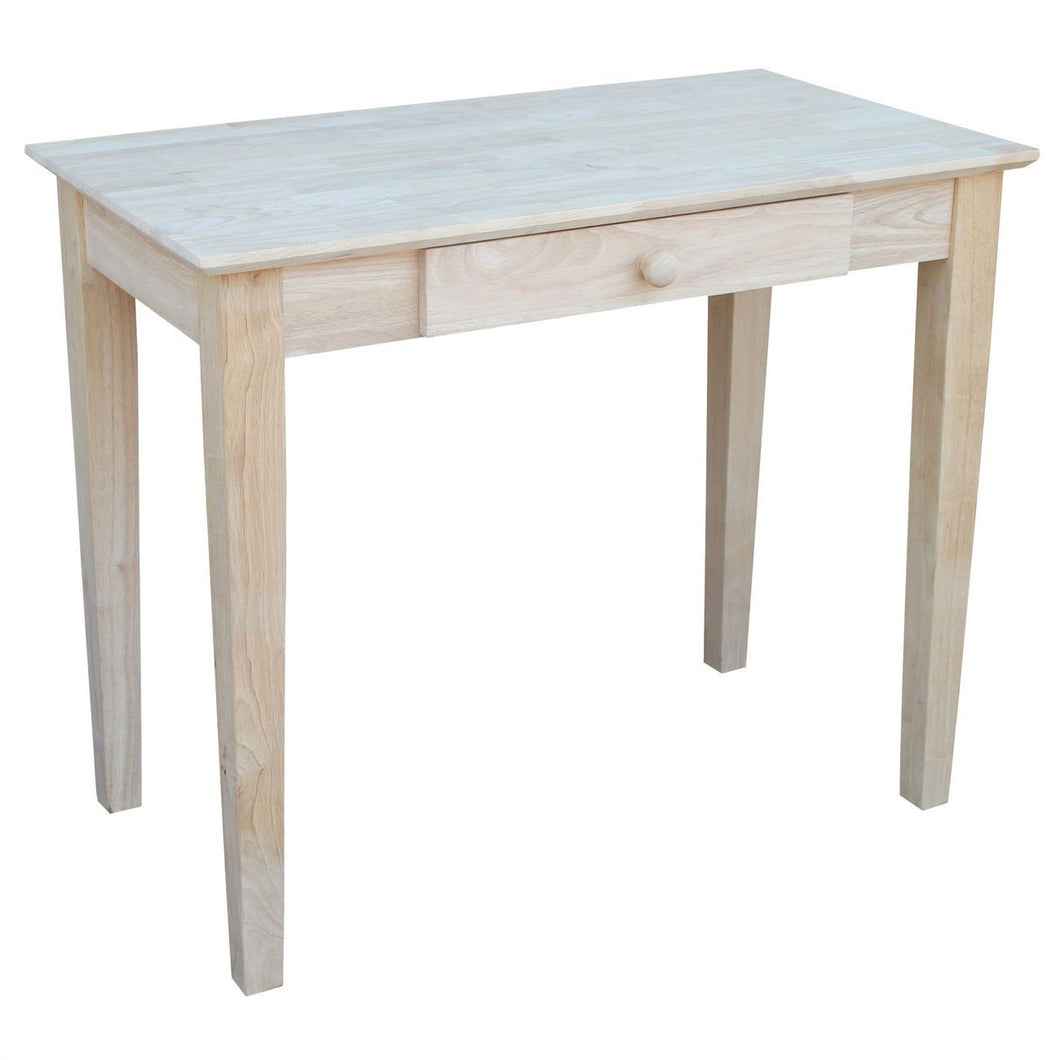Solid Unfinished Wood Laptop Desk Writing Table with Drawer