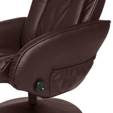 Load image into Gallery viewer, Sturdy Brown Faux Leather Electric Massage Recliner Chair w/ Ottoman