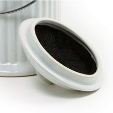 Load image into Gallery viewer, White Ceramic Compost Keeper/Bin with Odor Preventing Charcoal Filter
