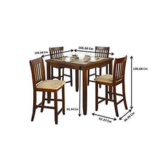 Load image into Gallery viewer, Casual 5-Piece Dining Set with Microfiber Padded Counter Height Stools
