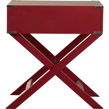 Load image into Gallery viewer, Modern 1-Drawer French Dovetail End Table Nightstand in Red Wood