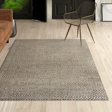 Load image into Gallery viewer, Gray 6' x 9' Flat Woven Hand Made Wool/Cotton Gray Area Rug