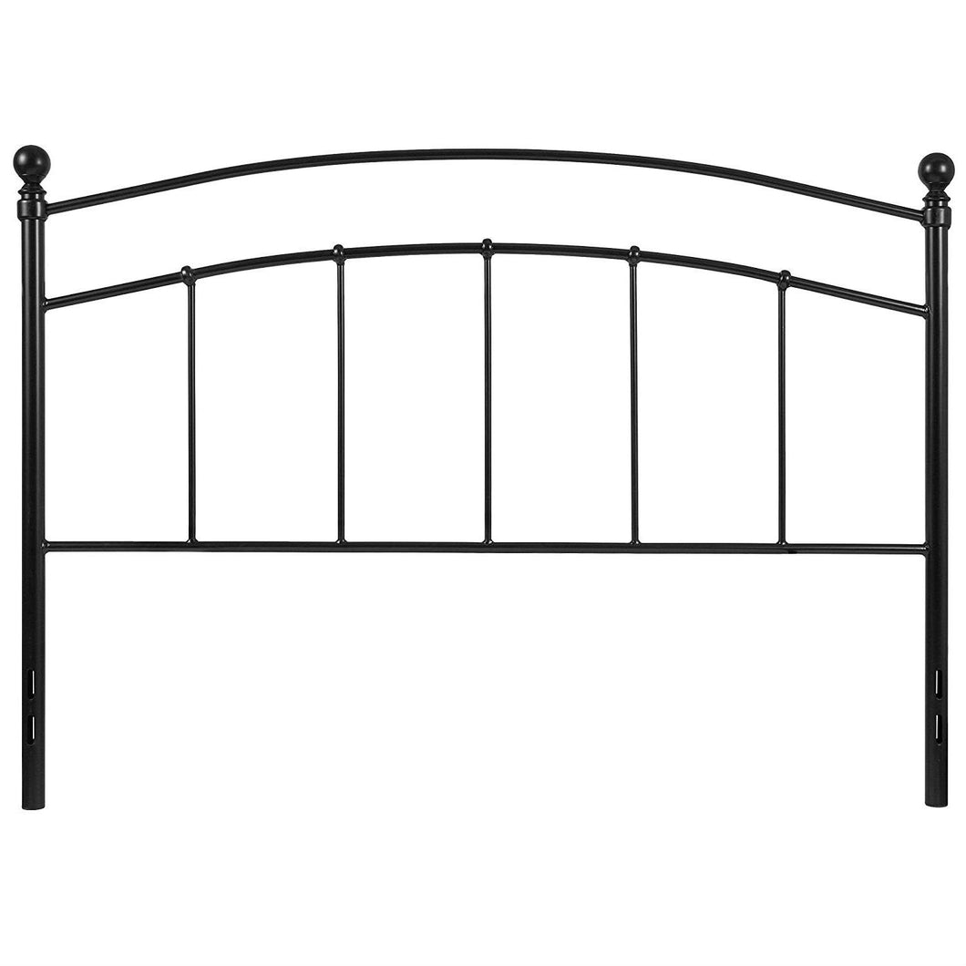 Queen size Contemporary Classic Headboard in Black Metal Finish