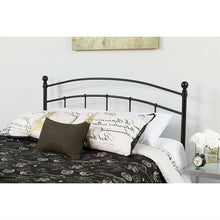 Load image into Gallery viewer, Queen size Contemporary Classic Headboard in Black Metal Finish