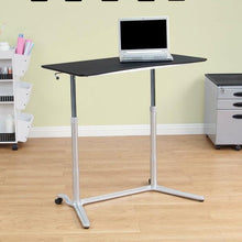 Load image into Gallery viewer, Modern Ergonomic Sit Down Stand Up Desk in Black Finish