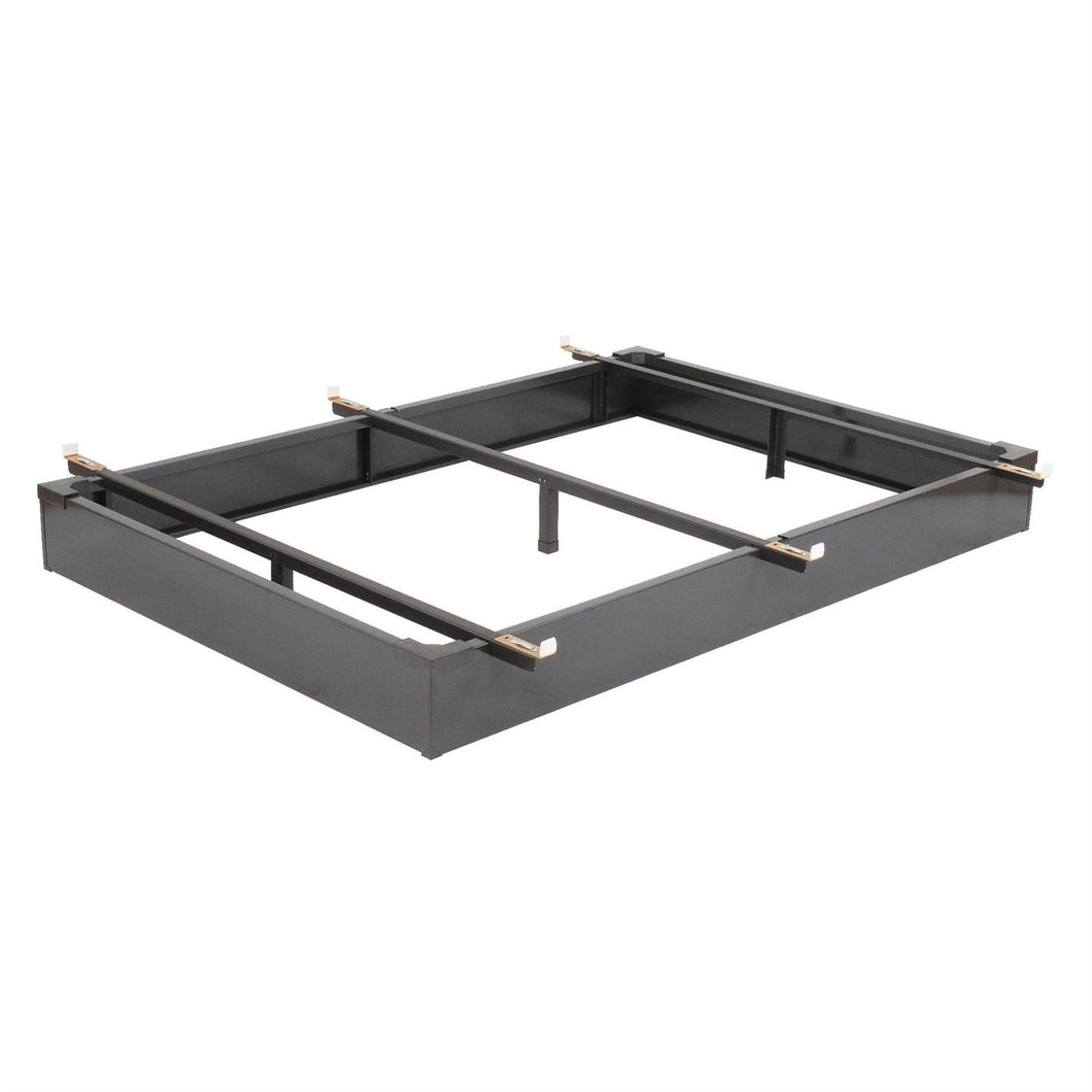 Twin size Hotel Style Metal Bed Base Frame with Flush-to-Floor Design
