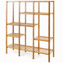 Load image into Gallery viewer, Eco-Friendly Bamboo 4-Shelf Bookcase Storage Rack