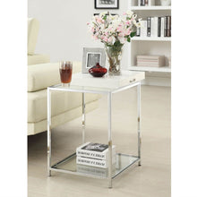 Load image into Gallery viewer, Modern Classic Metal End Table with White Removable Tray