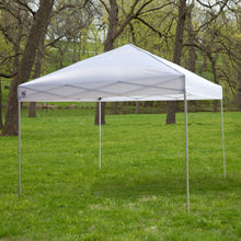 Load image into Gallery viewer, White 10-Ft x 10-Ft Outdoor Canopy Tent Gazebo with Steel Frame and Carry Bag