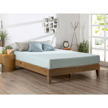 Load image into Gallery viewer, Twin size Solid Wood Platform Bed Frame in Pine Finish