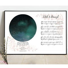 Wedding gift with star map