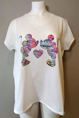 T-shirt Mickey & Minnie Bisous