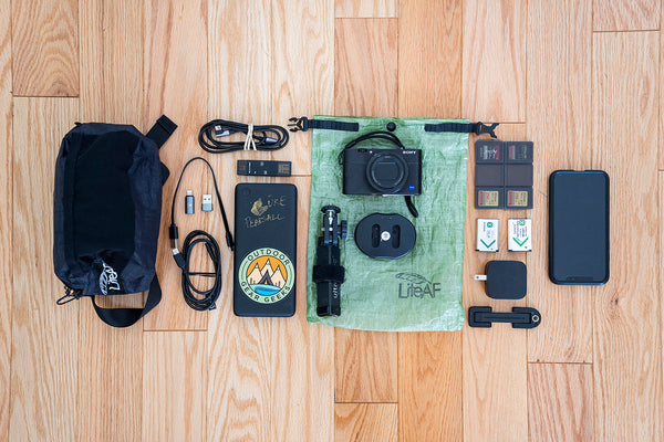 Best Camera Setup Photography Kit for Thru-Hiking UL Ultralight Backpacking Luke Pearsall