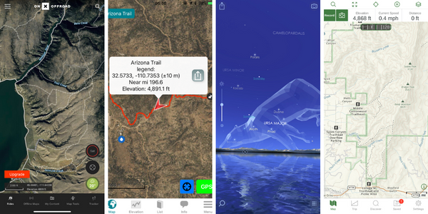 Best Outdoor Apps Thru-Hiking Backpacking Mapping First Aid Route Finding Stars